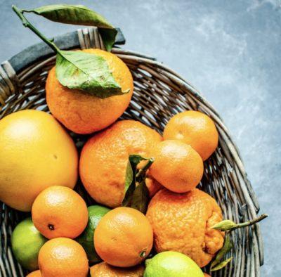 Nobiletin, ein Molekül in Mandarinen und Orangen